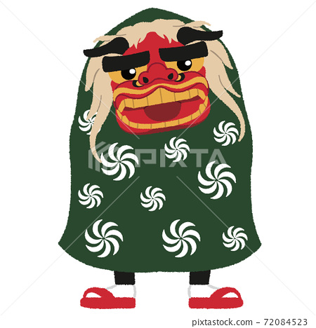 """Illustration of the New Year's tradition """"lion dance"""" 72084523"""