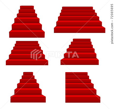 Festive events red stairs. Vector. 72085695