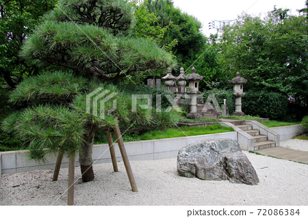 Senzokuike Park in Minamisenzoku, Ota-ku, Tokyo, taken from the front left side of the grave of Mr. and Mrs. Katsu Kaishu 72086384
