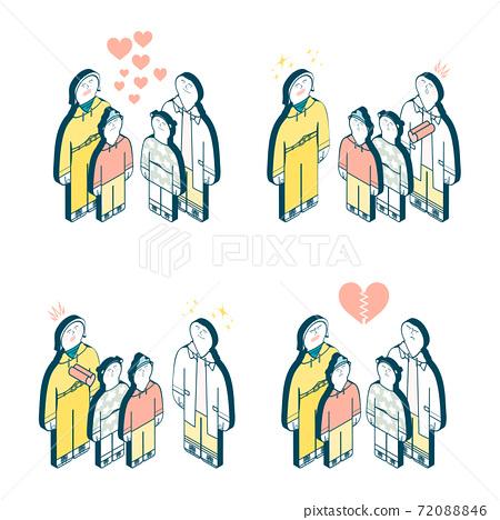 Family love illustration set 72088846