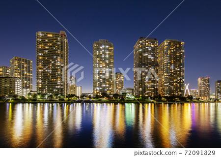 東京都筑島的高層公寓 72091829