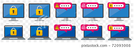 secure flat icon illustration vector  72093008