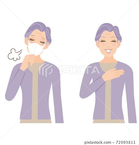 奶奶咳嗽微笑疾病病毒 72093811