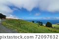在新西蘭達尼丁的海灘景色美麗的山丘 72097632