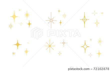 星光閃閃圖標集/插圖/燈光/發光/材料/簡單 72102878