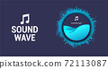 Circle spiral sound wave 72113087