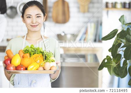 婦女使用送餐服務 72118495