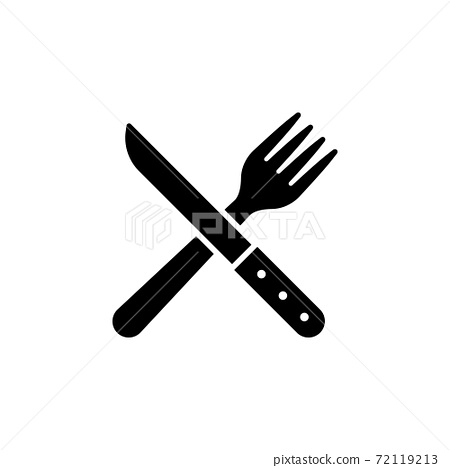 Cross Knife and Fork icon vector illustration 72119213