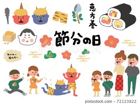 套餐(Akaoni,Aooni,Otafuku,家庭,Ekatamaki) 72123822