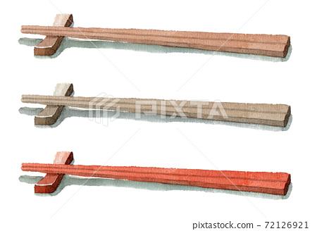 模擬水彩筷子和筷子架 72126921