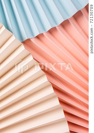 Colorful abstract background with paper fans 72130789