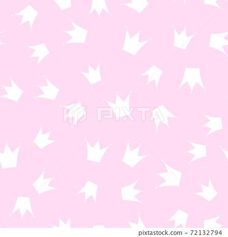 Princess Crown Seamless Pattern Background Vector Illustration 72132794