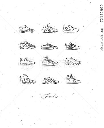 Poster sneakers men shoes vintage 72132999