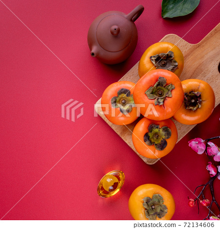 柿子 農曆新年 新年 紅包 persimmon chinese new year あまかき 甜柿 72134606