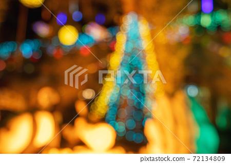 聖誕節 耶誕節 裝飾品 背景 Christmas blurry background クリスマス 72134809