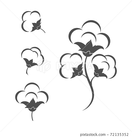 Cotton flower vector icon template 72135352