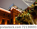 Christmas decorations in front of the State Historical Museum, Moscow, Russia 72136693