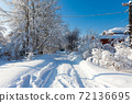 Beautiful winter landscape after a snowfall 72136695