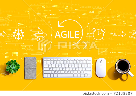 Agile concept with a computer keyboard 72138207