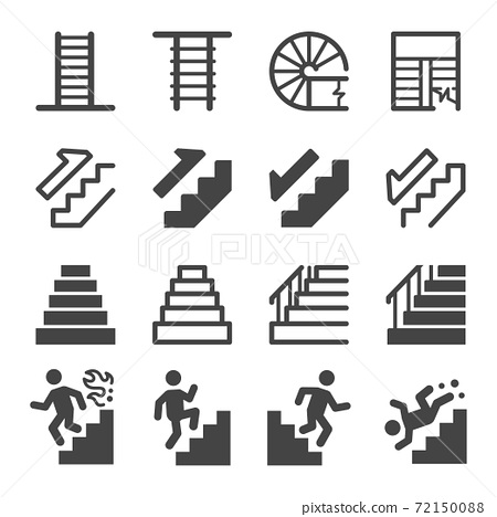 stairs icon set 72150088