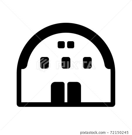 Gymnasium / hall / sports / event vector icon 72150245
