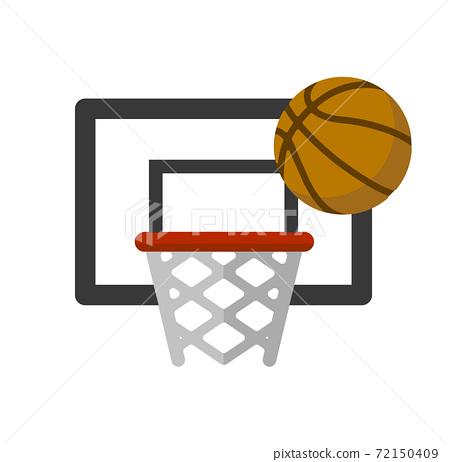 籃球/運動矢量顏色圖標 72150409