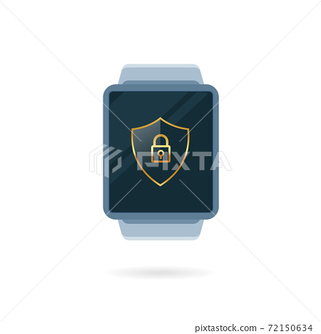 A digital smart watch. Isolated Vector Illustration 72150634