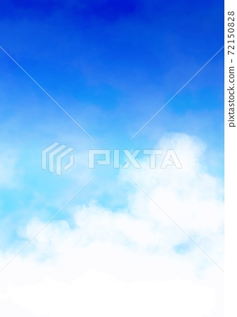 Digital watercolor illustration of sky and clouds vol.001 72150828