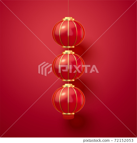 Chinese traditional red lanterns 72152053