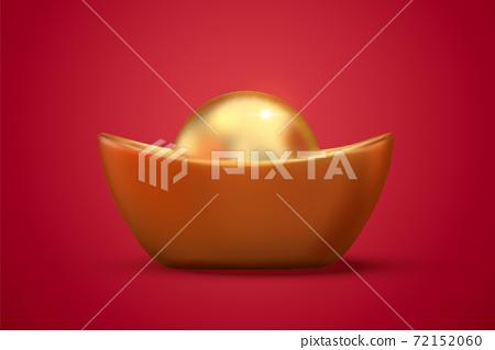Chinese giant gold ingot 72152060