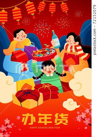 Chinese new year shopping poster 72152079