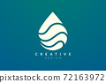 Minimalist abstract shaped water drop logo design. Simple and modern vector design for business brand and product. 72163972