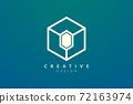 Design ideas for hexagon shapes and diamond symbols combined. Modern minimalist and elegant vector illustration. Suitable for patterns, labels, brands, icons or logos 72163974