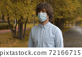 Man in disposable protective mask 72166715