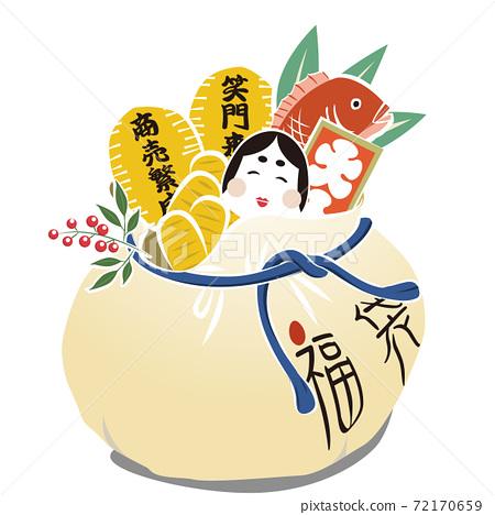 商業繁榮,幸運袋,橢圓形(矢量) 72170659