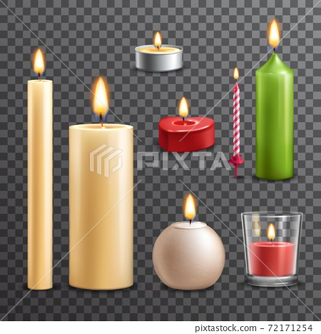 Candles transparent set 72171254