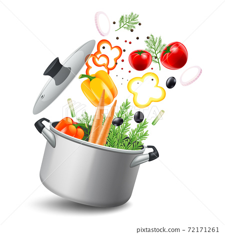 Casserole With Vegetables Illustration 72171261