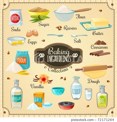 Baking Ingredients Set 72171264