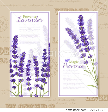 Lavender Flower Vertical Banners 72171272
