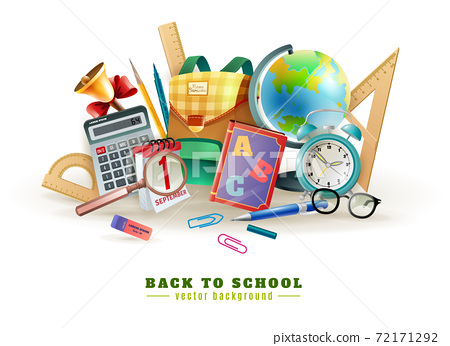 Back To School Accessories Composition Poster 72171292