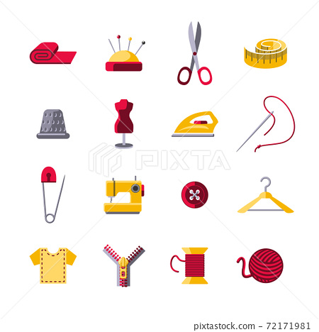 Sewing Icons Set 72171981