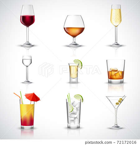 Alcohol Realistic Set 72172016