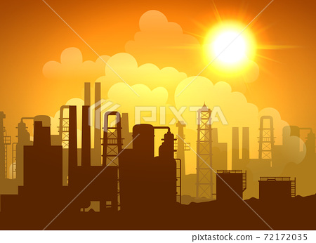 Oil Refinery Poster 72172035