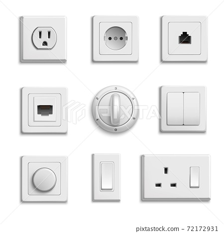 Switches Sockets Realistic Set 72172931