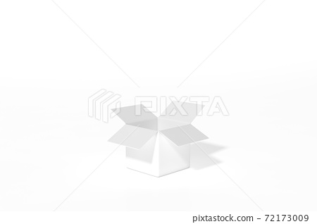 White gift box opening on white background 3d rendering. 3d illustration minimal style christmas and new year concept. 72173009