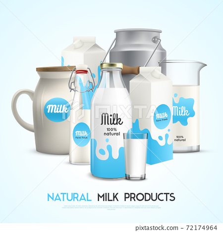 Natural Milk Products Background 72174964