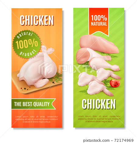 Chicken Meat Vertical Banners 72174969