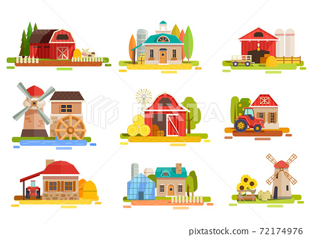 Farm Flat Scenery Collection 72174976