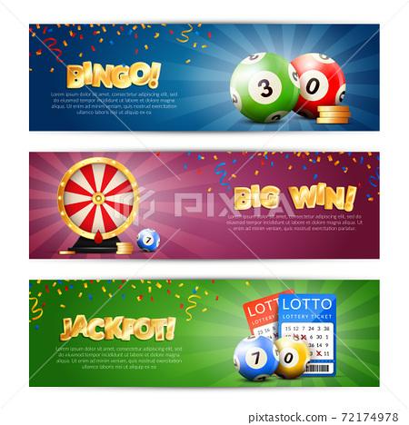 Lottery Jackpot Banners Set 72174978