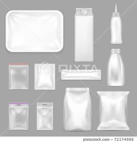 Blank Food Packaging Realistic Set 72174988